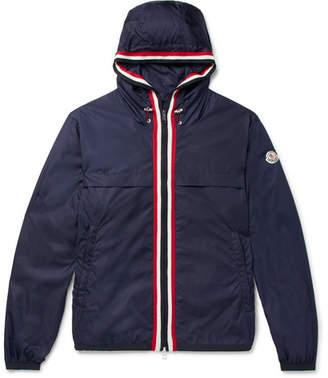 Moncler Anton Webbing-Trimmed Nylon Hooded Jacket - Men - Navy