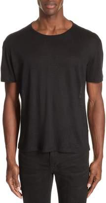 John Varvatos Linen Crewneck T-Shirt