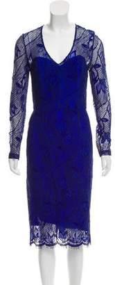 Lela Rose Semi-Sheer Lace Dress w/ Tags