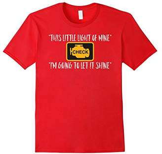Check Engine Light Car Mechanic Gift Funny T-Shirt LOL