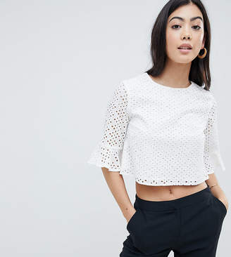 Fashion Union Petite Top In Broderie