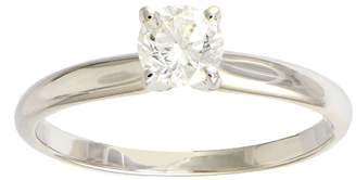 Affinity Diamond Jewelry Diamond Solitaire Ring, 1/2 cttw, 14K White Gold, by Affinity