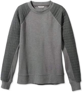 L.L. Bean L.L.Bean Signature Quilted-Sleeve Sweatshirt