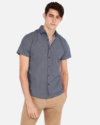 Express Slim Print Short Sleeve Shirt