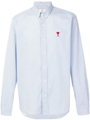 Ami Alexandre Mattiussi Button-Down Shirt Chest Embroidery