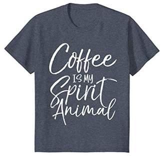 Coffee is my Spirit Animal Shirt Vintage Funny Tee