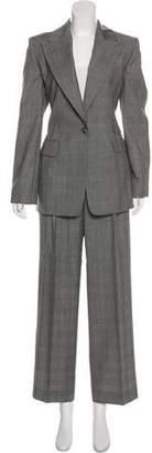 Ellen Tracy Linda Allard Wool Plaid Pantsuit