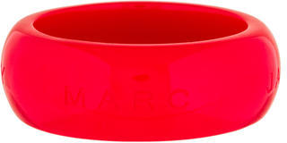 Marc by Marc Jacobs Resin Logo Bangle $50 thestylecure.com