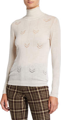 ADAM by Adam Lippes Lightweight Cashmere Floral Sweater