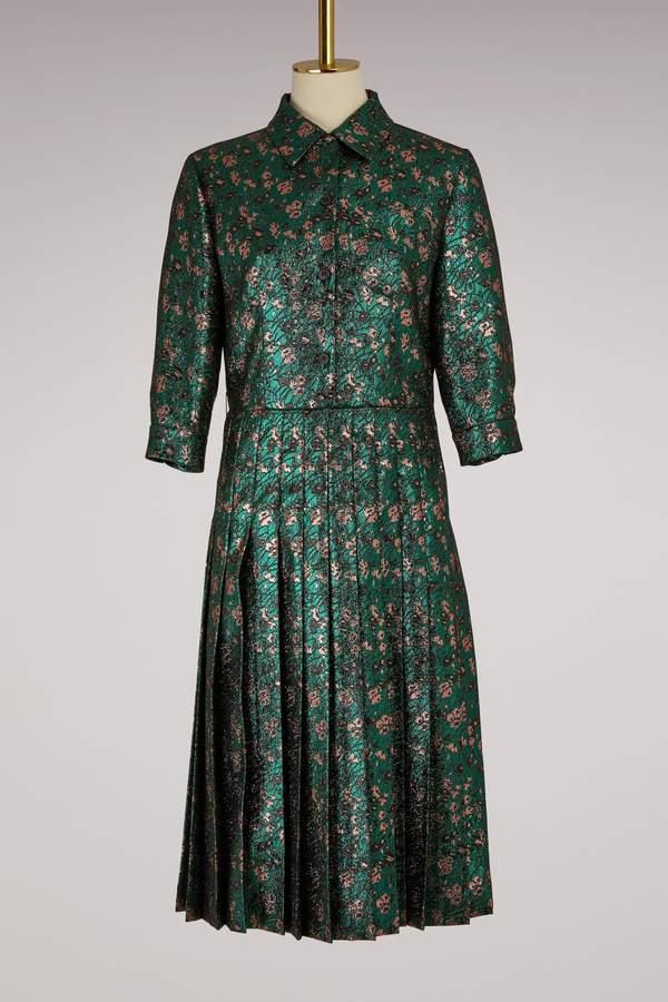 Prada Jacquard flower dress