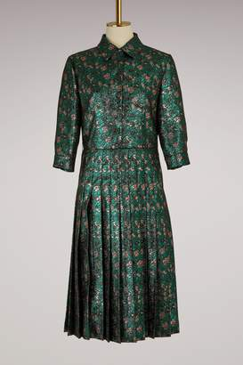 Prada Jacquard Dress With Floral Print