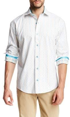 Bespoke Dot Print Modern Fit Shirt