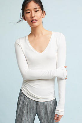Pure + Good Ribbed Long-Sleeve V-Neck Tee $48 thestylecure.com