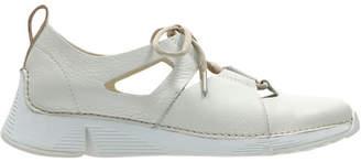 Clarks Tri Sense White Leather Sneaker