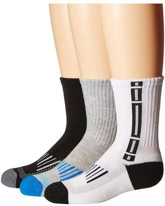 Jefferies Socks Tech Sport Half Cushion Crew Socks 3-Pair Pack Boys Shoes