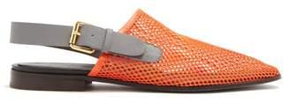 Colville - Mesh Slingback Slippers - Womens - Orange