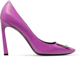 Roger Vivier Belle Vivier Trompette Embellished Leather Pumps - Magenta