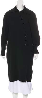 Guy Laroche Collar Button-Up Coat