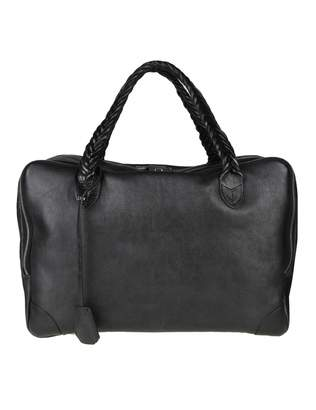 Golden Goose Hand Bag equipage Bag M / M In Black Leather