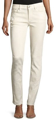 Ralph Lauren Collection 105 Washed Cigarette Jeans, White $890 thestylecure.com