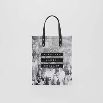 Burberry Rave Print Nylon Tote Bag