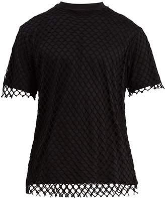 Marques Almeida MARQUES'ALMEIDA Net-overlay cotton-jersey T-shirt