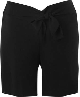 Dorothy Perkins Womens **Maternity Black Tie Waist Woven Shorts