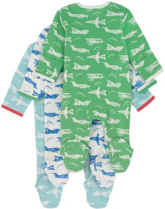 Cath Kidston Mono Planes Baby 3 Pack Sleepsuit