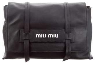eeef2d94a4c3 Miu Miu Smooth Leather Clutch