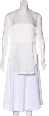Helmut Lang Sleeveless Silk Tunic