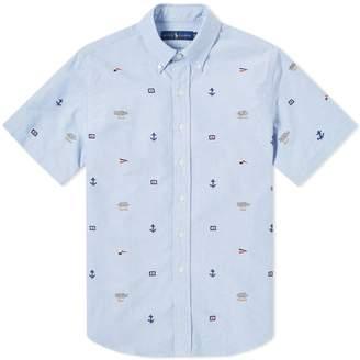 Polo Ralph Lauren Short Sleeve Button Down Sailor Jacquard Shirt