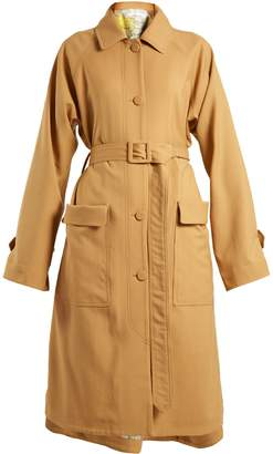Golden Goose Amanda tie-waist wool trench coat