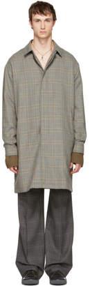 Lanvin Grey Wool Glen Check Coat