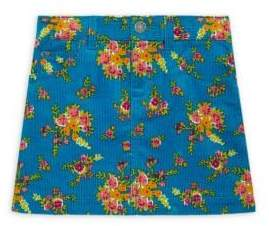 Gucci Little Girl's& Girl's Floral Bouquet-Print Corduroy Skirt
