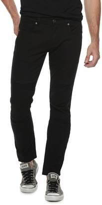 X-Ray Xray Men's XRAY Straight-Fit Fashion Washed Indigo Moto 5-Pocket Jeans
