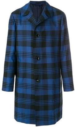 Piombo Mp Massimo tailored plaid coat