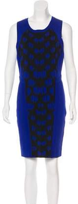 Diane von Furstenberg Geometric Print Bodycon Dress