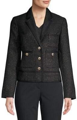 Nipon Boutique Notch Lapel Tweed Jacket