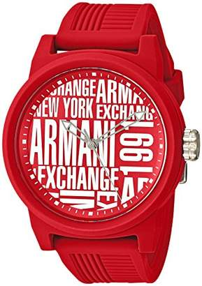 Armani Exchange Men's Quartz Rubber and Silicone Casual Watch