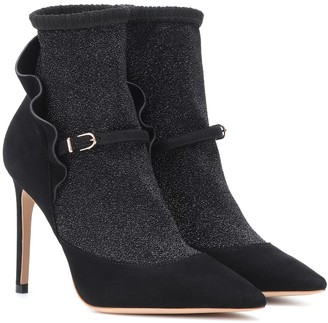 Sophia Webster Lucia suede ankle boots