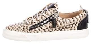Giuseppe Zanotti Embossed Low-Top Sneakers