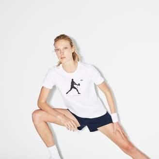 Lacoste Women's SPORT Print T-Shirt - Novak Djokovic Supporter Collection