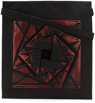 Issey Miyake geometric patterned tote bag