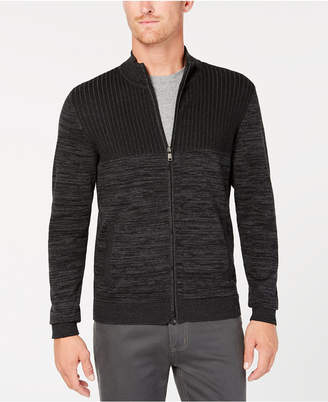 Alfani Men's Textured Zip Cardigan, Created for Macy's