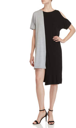 Patrizia Luca Asymmetrical Two-Tone Shift Dress