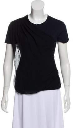 Lanvin Drape-Accented T-Shirt black Drape-Accented T-Shirt