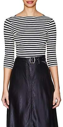 Barneys New York Women's Striped Cotton Jersey T-Shirt - Navy