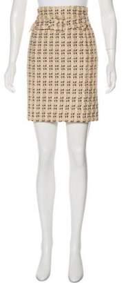Prada Metallic Knee-Length Skirt Gold Metallic Knee-Length Skirt