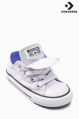 Next Girls Converse Lilac Double Tongue Chuck Ox