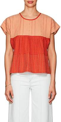 Ace&Jig Women's Marfa Dotted & Striped Cotton Top